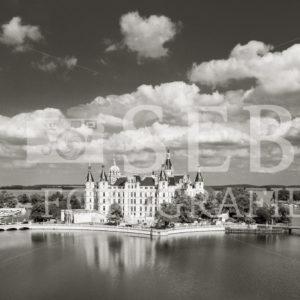Das Schweriner Schloss in schwarz/weiß - SEB Fotografie