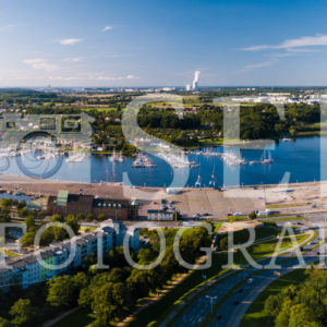 Panoramablick über Rostock Richtung Stadthafen - SEB Fotografie