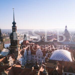 Stadtschloss Dresden von oben - SEB Fotografie